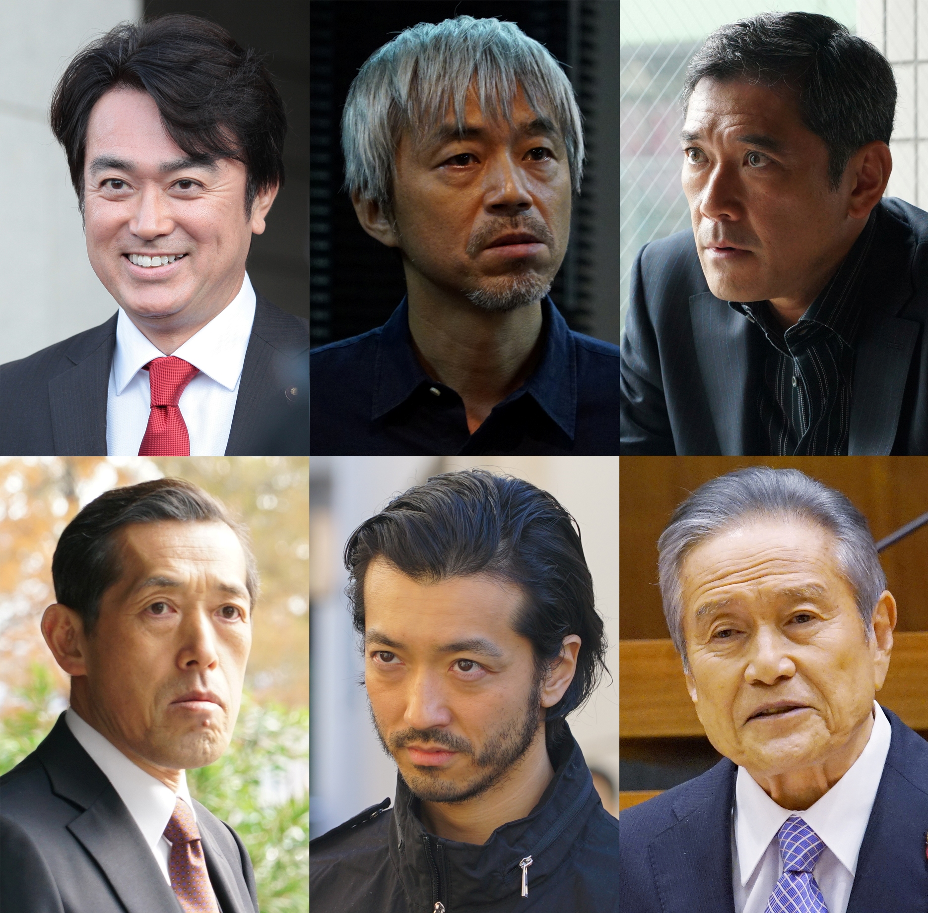ゲスト6人(上段左から石黒、小市、杉本、嶋田、金子、竜)+